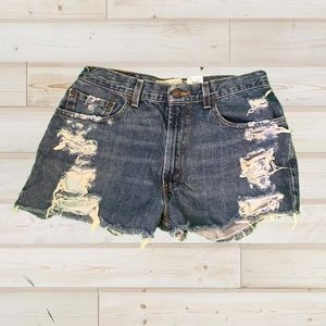 Vintage LEVI'S 569 Cut-Offs Perfectly Frayed 31